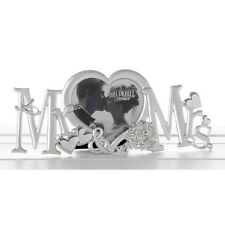 Wedding Gift Silver Metal MR & MRS Sign MR AND MRS Heart Photo Frame Decoration