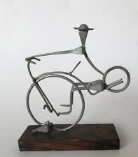 Vintage Sterner Imports Nail Art Sculpture Made in Spain Man on Bike Free Ship
