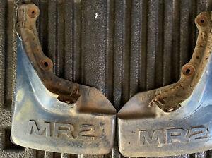 Rear Mud Flaps / Splash Guards Red Toyota MR2 AW11