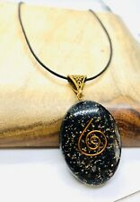 Orgone Black Tourmaline Pendant Orgonite Schorl Reiki Protective Necklace Real A
