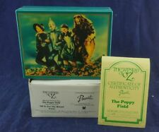 "1987 Presents, Music Box ""Off to See the Wizard"" poppy field Le hamilton gift"