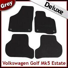 VW Golf Estate Mk5 2007-2009 Oval Clips Tailored LUXURY 1300g Carpet Mats GREY