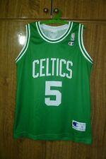 Boston Celtics Champion NBA Jersey #5 Kevin Garnett Basketball Green Men Size S