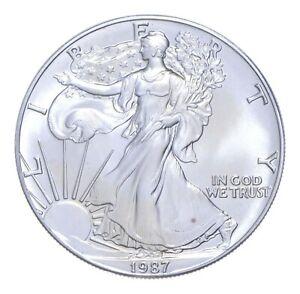 Better Date 1987 American Silver Eagle 1 Troy Oz .999 Fine Silver *273