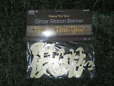 """New � 6 Ft gold glitter ribbon banner """"Happy New Year """" 🥂"""
