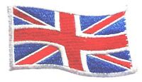 LARGE UNION JACK CLOTH PATCH iron or sew on British wave flag embroidered badge