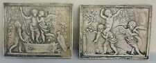 Clearance Cherubs Angels Playing Eros Wall Sculpture Home Vintage Decor Antique