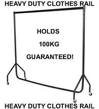 6ft Heavy Duty Garment Clothes Dress Hanging Display Market  Rail Steel Rack