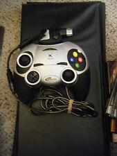 Radica Gamester XBOX Controller 2001 Silver Black w/Communicator Adapter