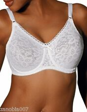 BALI Lace 'N Smooth Full Support Underwire White Bra Size 38C