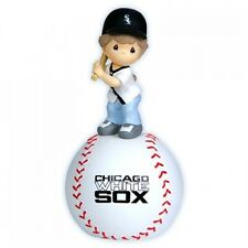 Precious Moment MLB Chicago White Sox Girl Playing Baseball Musical Figurine NEW