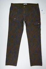Men's Marc Ecko Glen Check size 34x31 Green Camo Stretch Cargo Jeans NEW NWT