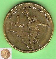 2005  CIRCULATED $1 DOLLAR COIN, 60th Anniversary End of World War II