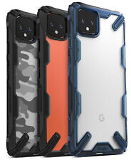 For Google Pixel 4 / Pixel 4 XL Case Ringke FUSION-X Shockproof Clear Back Cover