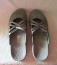 VIONIC Rest Claire Casual Mary Jane Mule Charcoal Suede Women's size 9