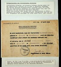 ITALY 1944 GERMAN OCCUPATION WWII CENSOR FELDPOST CARD