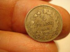 FRANCE  SILVER  1/4 FRANC  1842  B