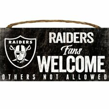 Fan Creations Welcome Oakland Raiders Distressed 6 x 12 Multicolored 6 x 12