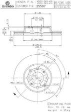 Brembo 25507 Set Front Disc Brake Rotors For Honda Civic NIB