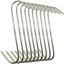 10Pcs Meat Hooks Stainless Steel Butcher Meat Processing Reusable 15lbs 5inch