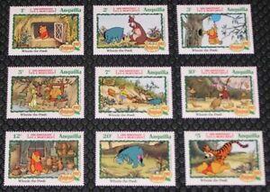 Anguilla 511-519 Disney Christmas Winnie the Pooh MNH