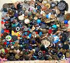 Antique & Vintage Buttons ~ Wonderful Poke of 1850's to 1950's Glass Metal Pearl