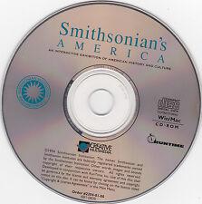 Smithsonian's America-Creative Multimedia-Interactive History Cd/Rom-Win/Mac