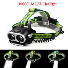 30000Lm 2x T6 LED Rechargeable 18650 Headlamp Headlight Head Torch Light USB