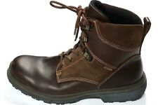 ECCO GORE TEX RUBBER TECH MENS 43 9 9.5 M BROWN LEATHER BOOTS GORE-TEX HIKING