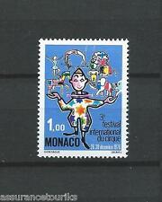 MONACO - CIRQUE DE MONTE CARLO - 1976 YT 1078 - TIMBRE NEUF** LUXE