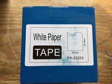 Rolls Compatible DK-22205 Brother White Continuous Labels – 62mm X 30.48m (CC688