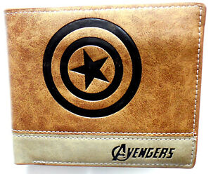 The Avengers Captain America Shield Wallet card slots id window zip coin pocket