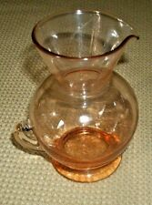 """Vintage Small Glass Amber 4 1/4"""" Pitcher"""