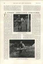 1902 Unique Ambulance Stretcher Rapid Transport Surgeon Captain Pc Fenwick