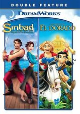 SINBAD LEGEND OF SEVEN SEAS + ROAD TO EL DORADO New 2 DVD Set Double Feature