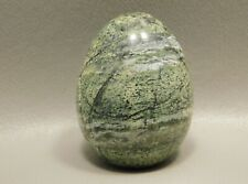 Serpentine Carved Stone Egg 2 inch Green Gemstone Rock South Africa #2