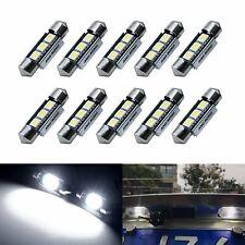 10x 6000K LED C5W 36mm Ampoule Navette Plafonnier Plaque ANTI SANS ERREUR CANBUS