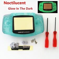 Night Light Noctilucent Clear Green Housing Case Shell for Game boy Advance GBA