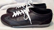 NICE **VANS**  *SAMONE*  Women's Brown Suede/Smooth Leather~Lace Up Sneaker~S.8M