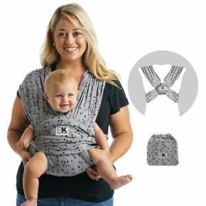Baby K'tan Wrap Carrier Newborn Infant Girls Child Sling, Sweetheart Gray 35 lbs