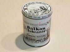 Vintage Empty Balkan Sobranie Tobacco Smoking Mixture Tin 4 oz. w/ Lid
