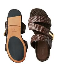 TOM FORD BRAIDED GRAFTON WOVEN SLIDES SANDALS SHOES LOAFERS SCHUHE SLIPPERS 43/9