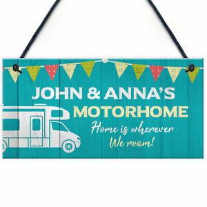 Personalised Motorhome Sign Bunting Motorhome Accessories Retirement Gift