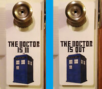 The Doctor 2 Sided Door Hanger Sign Police Call Box Time Lord Who Dr TARDIS BBC