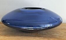 Per Lutken Holmegaard Atomic era smoke/sapphire blue ashtray. Boxed. Label.