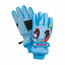 New My Little Pony Girls 4-16 Rainbow Dash Blue Adjustable Insulated Ski Gloves