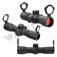 NcSTAR 4X30 Compact Rubber Armored/Dual Ill P4 Sniper Scope - SEECR430R