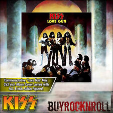 """KISS Collectible 2011 Figures Toy Company Love Gun Series One 8"""" Retro Doll Set"""