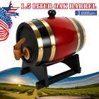 1.5L Retro Wine Pine Barrel Whiskey Spirits Storages Timber Liquor Keg Wine Red