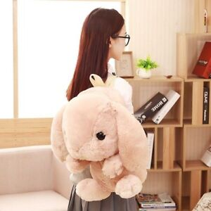 New Backpack Ladies Kawaii Plush Doll Rabbit School Shoulder Bag